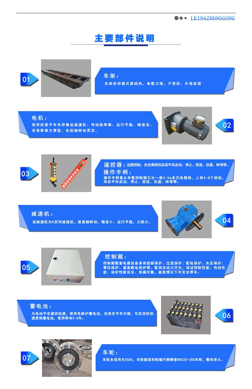 蓄电池电动平车主要部件介绍说明